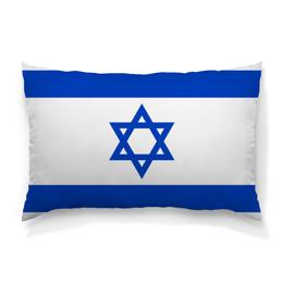 """Подушка 60х40 с полной запечаткой """"Земля Обетованная"""" - патриотизм, флаг, звезда давида, израиль"""