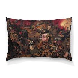 """Подушка 60х40 с полной запечаткой """"Безумная Грета (Питер Брейгель (Старший))"""" - картина, живопись, брейгель"""