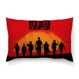 "Подушка 60х40 с полной запечаткой ""Red Dead Redemption game"" - игры, компьютерная игра, video games, game art, red dead redemtion"