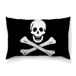 """Подушка 60х40 с полной запечаткой """"""""Весёлый Роджер - Jolly Roger"""""""" - череп, пираты, jolly roger, пиратский флаг, весёлый роджер"""