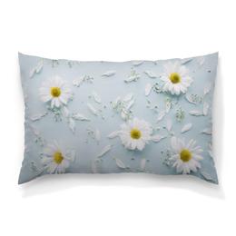 """Подушка 60х40 с полной запечаткой """"Ромашки"""" - ромашка, цветы, нежный цветок, цветок, лето"""