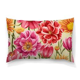 """Подушка 60х40 с полной запечаткой """"Садовые цветы"""" - красиво, цветы, ярко, природа, садовые цветы"""