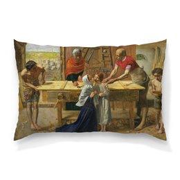 """Подушка 60х40 с полной запечаткой """"Христос в родительском доме (Джон Милле)"""" - картина, милле"""