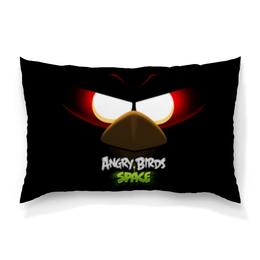 "Подушка 60х40 с полной запечаткой ""Space (Angry Birds)"" - игры, space, мультфильм, птица, angry birds"