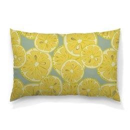 """Подушка 60х40 с полной запечаткой """"лимоны"""" - лето, фрукты, лимон, лимоны, цитрусовые"""