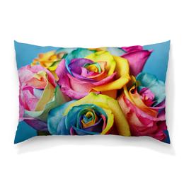 """Подушка 60х40 с полной запечаткой """"Цветы Розы"""" - цветы, 8 марта, семья, розы, букет"""