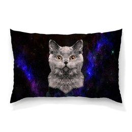 """Подушка 60х40 с полной запечаткой """"Котенок"""" - кот, звезды, котенок, космос, коты в космосе"""