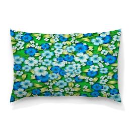 """Подушка 60х40 с полной запечаткой """"Цветы"""" - цветы, весна, природа, зелень, трава"""