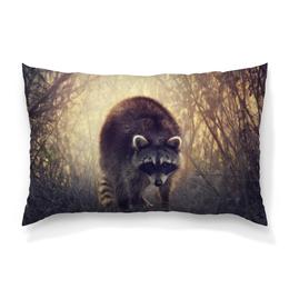 """Подушка 60х40 с полной запечаткой """"Raccoon"""" - animal, енот, raccoon, procyon"""