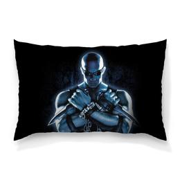 """Подушка 60х40 с полной запечаткой """"Риддик / Riddick"""" - рисунок, кино, риддик"""