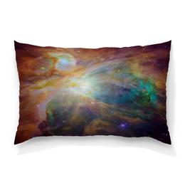 """Подушка 60х40 с полной запечаткой """"Космические краски"""" - звезды, космос, небо, краски, галактика"""