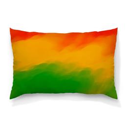 """Подушка 60х40 с полной запечаткой """"Радужный"""" - радуга, рисунок, картина, краски, цветные краски"""