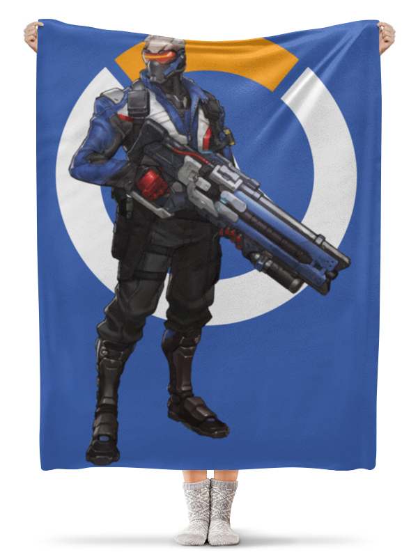 Плед флисовый 130х170 см Printio Overwatch soldier 76 овервотч солдат 76 爆笑王国76