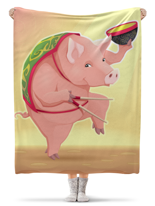 Плед флисовый 130х170 см Printio Свинья плед флисовый 130х170 см printio свин и свинья свадьба