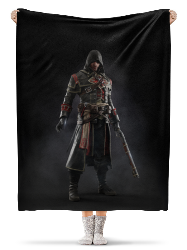 Плед флисовый 130х170 см Printio Assassins creed (rogue)
