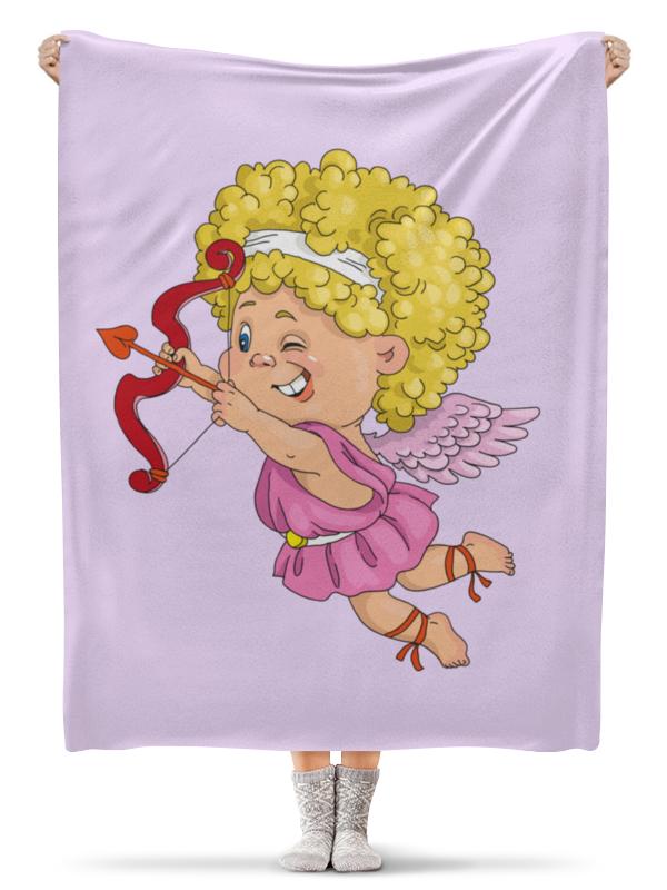 Плед флисовый 130х170 см Printio День св. валентина миниатюра два сердца пронзенные стрелой цвет серебристый 6 5 см