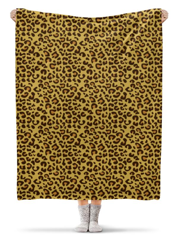 Плед флисовый 130х170 см Printio Леопардовый