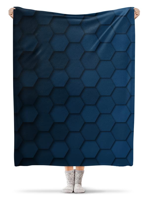 Плед флисовый 130х170 см Printio Синяя абстракция