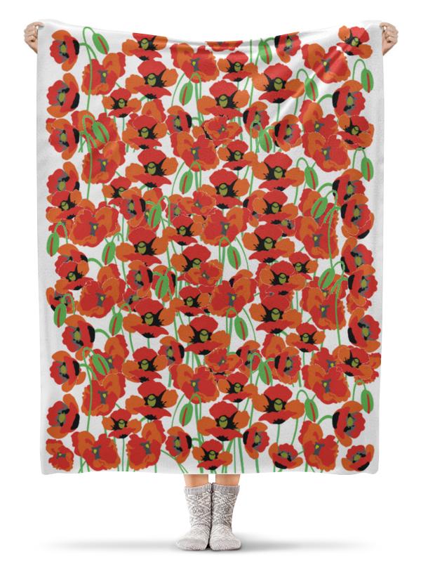 Фото - Плед флисовый 130х170 см Printio Красные маки обложка для паспорта printio красные маки