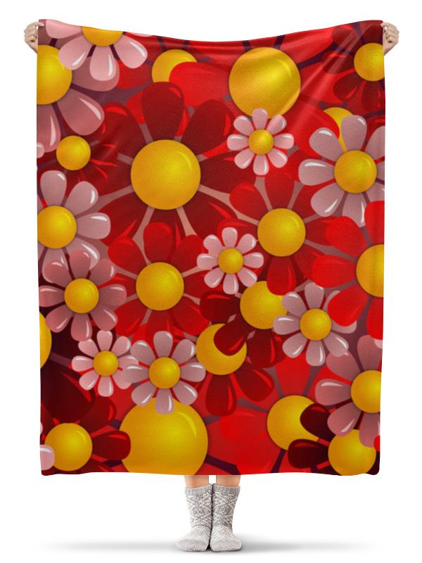 Плед флисовый 130х170 см Printio Ромашки