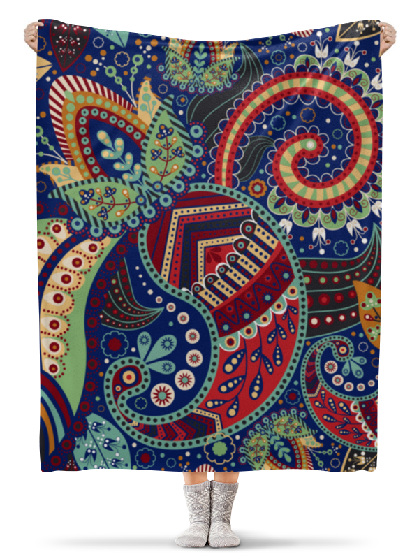 Плед флисовый 130х170 см Printio Орнамент