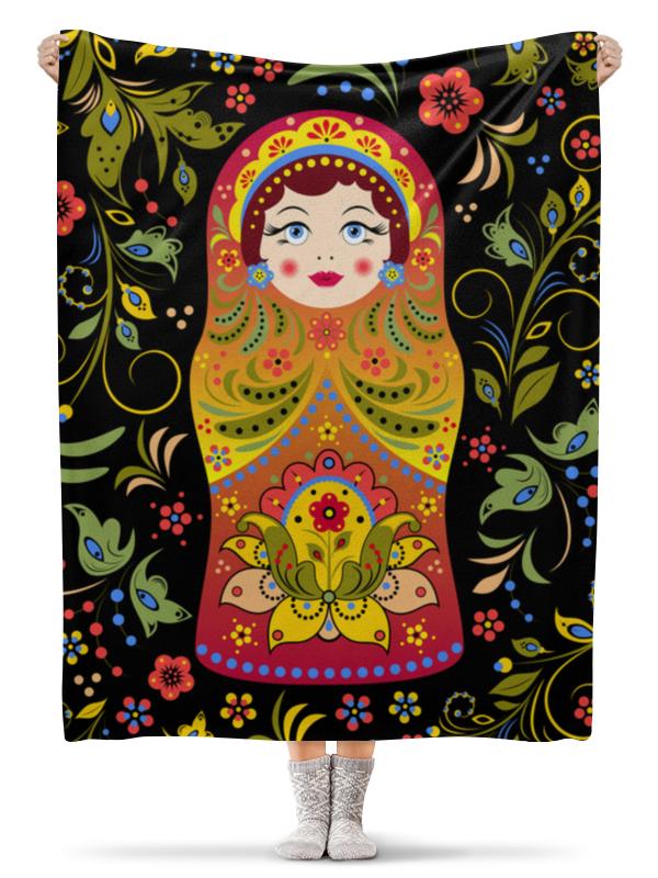 Плед флисовый 130х170 см Printio Матрёшка ансамбль в народном зодчестве русского севера