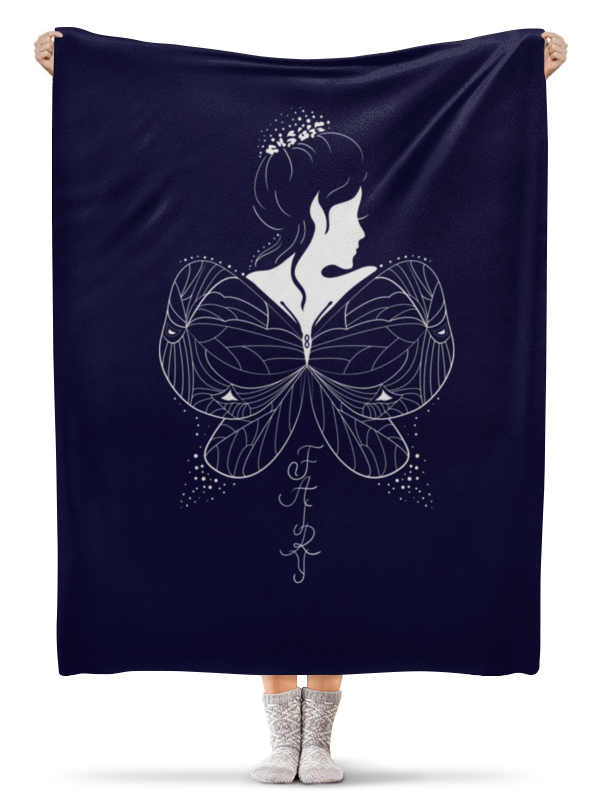 Плед флисовый 130х170 см Printio Красивая эльфийка  крыльями. фэнтези иллюстрация
