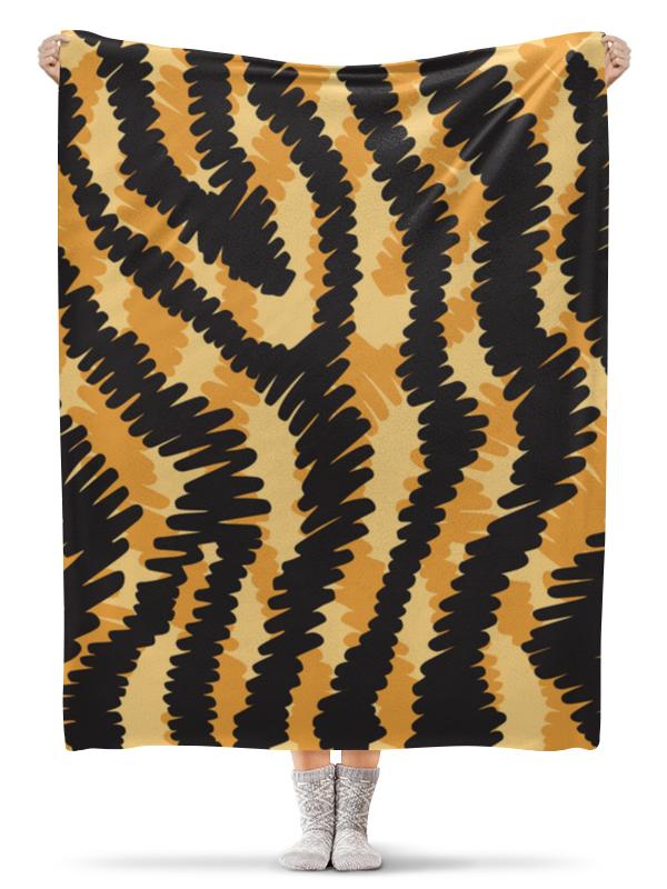 Плед флисовый 130х170 см Printio Тигровый тигровый орех купить в москве
