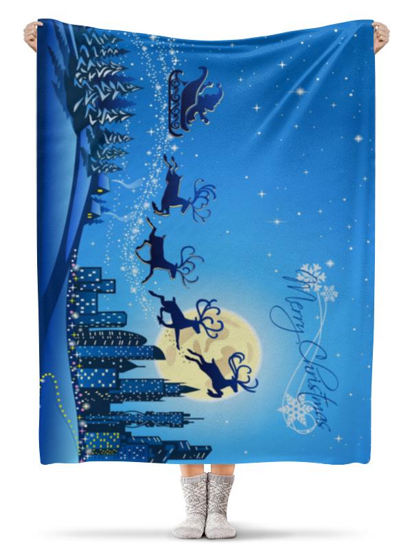 Плед флисовый 130х170 см Printio Счастливого рождества бумага пергаментная rayher счастливого рождества