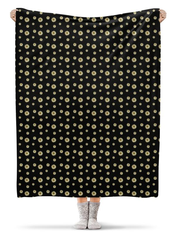 Плед флисовый 130х170 см Printio Ромашки цена 2017