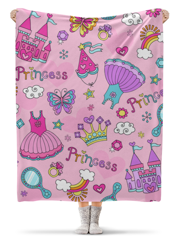 Плед флисовый 130х170 см Printio Принцесса обучающая книга азбукварик секреты маленькой принцессы 9785402000568