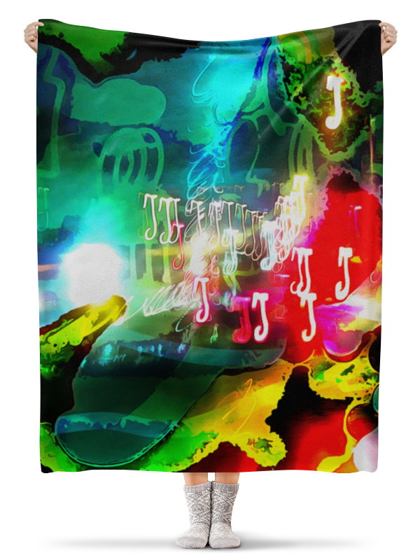 Плед флисовый 130х170 см Printio Abstract raster 160 стоимость