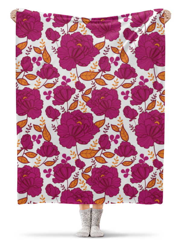 Плед флисовый 130х170 см Printio Цветы плед флисовый 130х170 см printio тропические цветы
