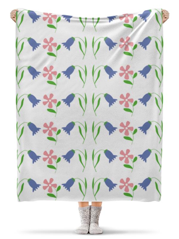 Плед флисовый 130х170 см Printio Полянка  цветами