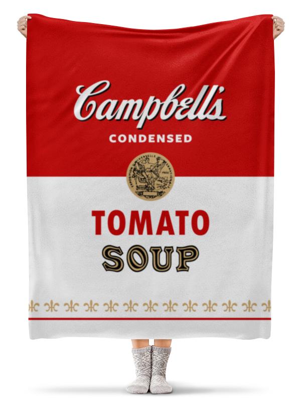 Плед флисовый 130х170 см Printio Суп кэмпбелл суп том кха