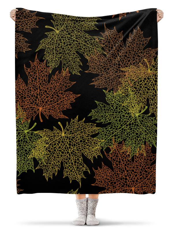 Плед флисовый 130х170 см Printio Кленовые листья