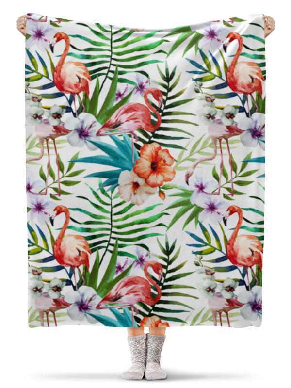 Плед флисовый 130х170 см Printio Фламинго