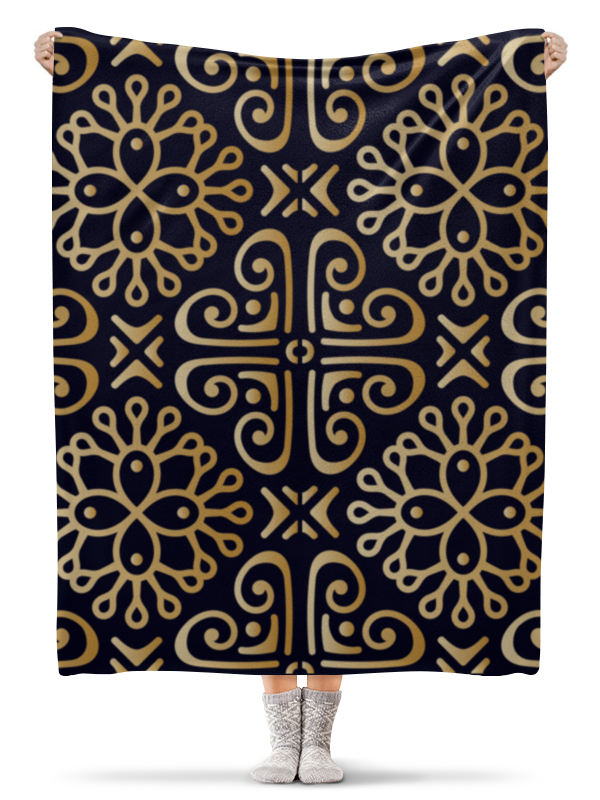 Плед флисовый 130х170 см Printio Цветочное золото плед флисовый 130х170 см printio этнический