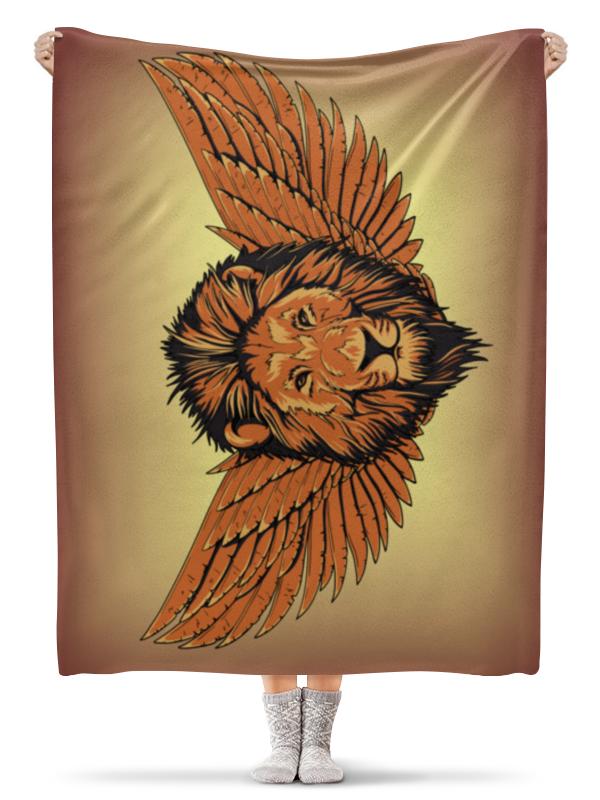 Плед флисовый 130х170 см Printio Крылатый лев гиря iron head лев 16 0 кг