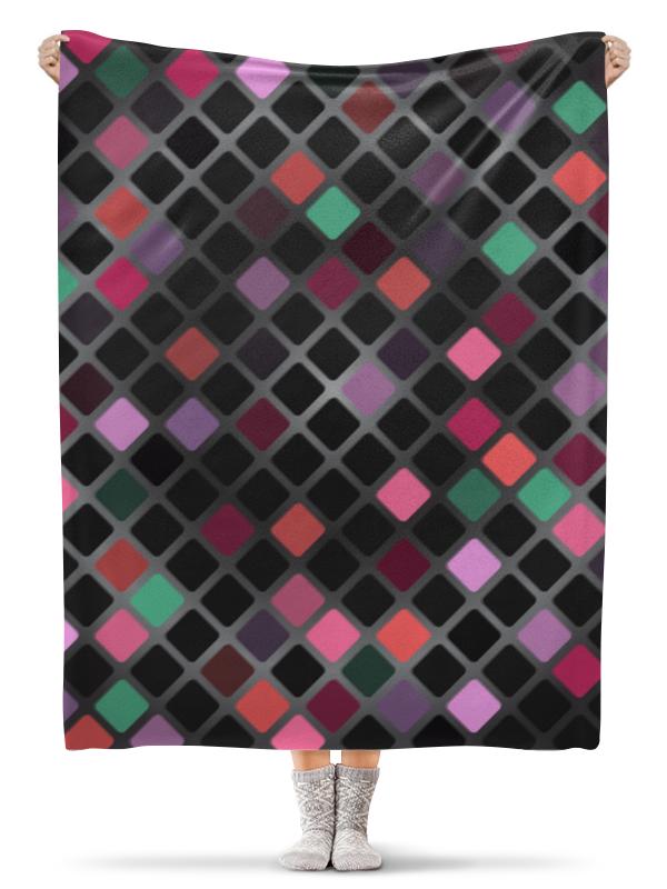 Плед флисовый 130х170 см Printio Мозайка мозайка grid