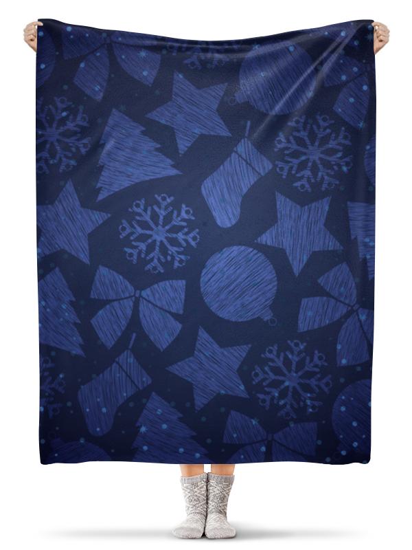 Плед флисовый 130х170 см Printio Новогодний плед флисовый 130х170 см printio новогодний заяц