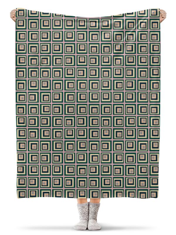 Плед флисовый 130х170 см Printio Квадраты плед флисовый 130х170 см printio неоновые квадраты