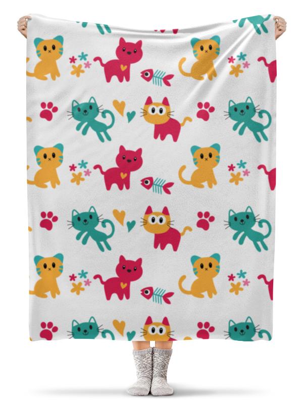 все цены на Плед флисовый 130х170 см Printio Весёлые котята онлайн