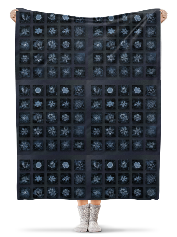 Плед флисовый 130х170 см Printio Снежинки костюм маленькой снежинки 32