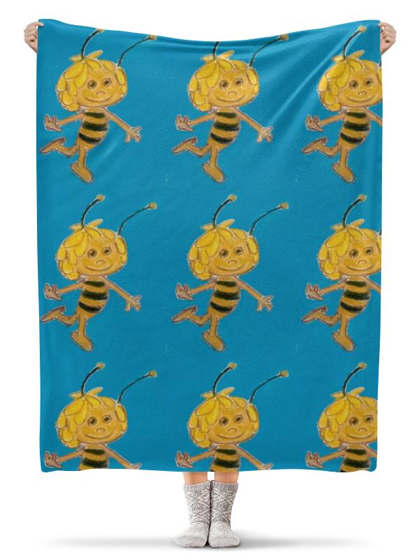 Плед флисовый 130х170 см Printio Пчелка карандаш с вашим именем пчелка