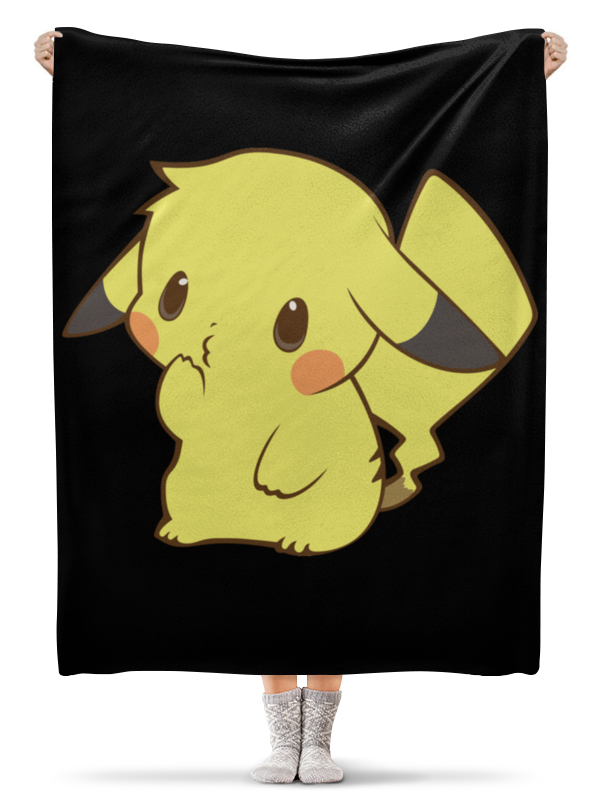 Плед флисовый 130х170 см Printio Pikachu / пикачу anime pu short yellow purse button wallet printed with pikachu of pikachu