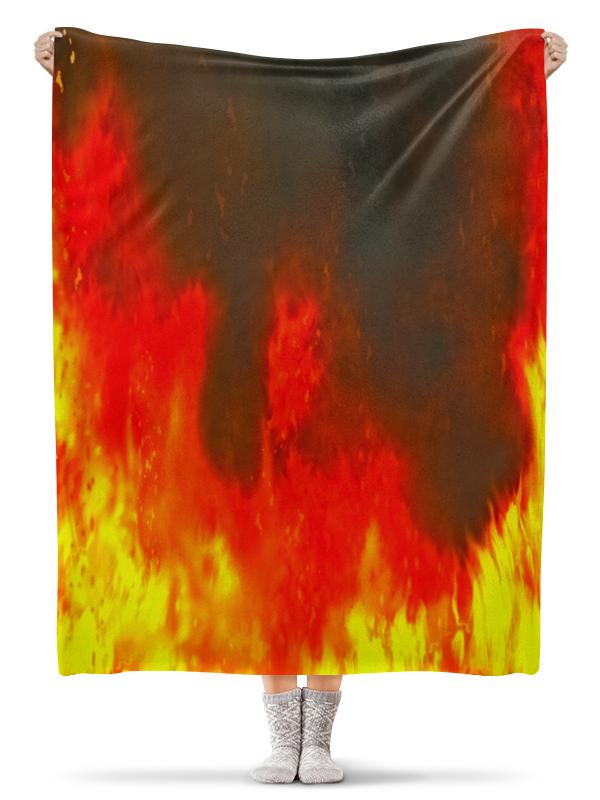Плед флисовый 130х170 см Printio Огонь плед флисовый 130х170 см printio кирпичная кладка