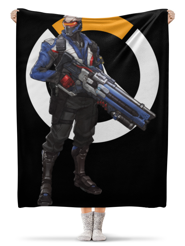 Плед флисовый 130х170 см Printio Overwatch soldier 76 / овервотч солдат 76 автохимия 76