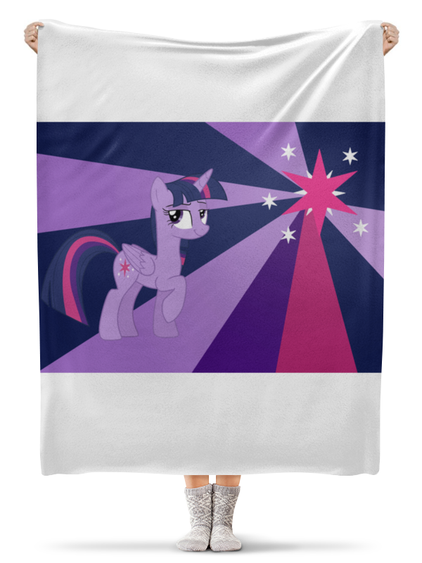 Плед флисовый 130х170 см Printio Twilight sparkle color line