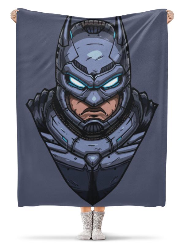 Плед флисовый 130х170 см Printio Armored batman / бронированный бэтмен еж стайл линейка supermiao batman 19 см